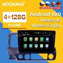 Autoradio Android 128G IPS 2 Din, navigation GPS, lecteur multimédia, écran, Audio, unité centrale, navigation GPS, pour voiture Honda Civic (2006 – 2012)