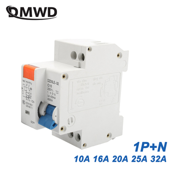 DPNL DZ30LE-32 1P+N 10A 16A 20A 25A 32A 230V 50/60HZ Residual Current Circuit Breaker With Over Current Leakage Protection RCBO