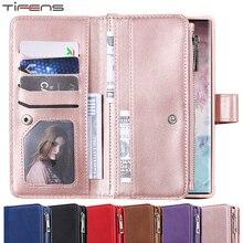 Etui portefeuille à rabat Note20ultra étui en cuir pour Samsung Galaxy S20 Ultra S10 E S9 S8 Plus Note 8 9 10 20 cartes Coque Etui téléphone