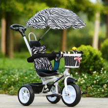 Portable Carbon Steel Stroller Tricycle Bike Hand Push Three Wheels Stroller Child Bicycle Baby Ride on Car for 1-2-5 Years Old все цены