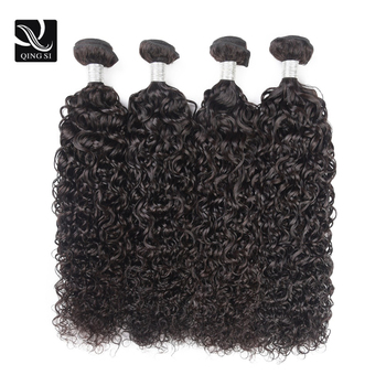 Human hair wet and wavy water wave human hair bundles 4 water wave bundles 4 bundles of human hair brazilian weave bundle