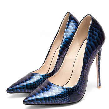 YECHNE Stiletto Sexy Pumps Women's Pumps High Heels Shoes Patent Leather Wedding Party Woman Shoes Plus Size 33 Pointed Toe