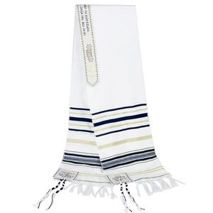 Image 5 - Messianic Jewish Israel Tallit Prayer Shawl Scarfs With Talis Bag Gifts for Women Ladies Men 180*50cm 5 Colors