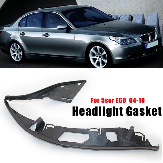 ไฟหน้ารถเปลือกเลนส์ครอบคลุมไฟหน้าเลนส์ซีลปะเก็นด้านข้างสำหรับ BMW E60 5 Series 63126934511 63126934512