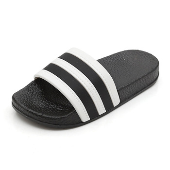 Fashion Stripes Children's Slippers Baby Girls Boys Barefoot Shoes Kids Skid Resistance Home Footwear Black-Sole Mix-Colors Beac фото