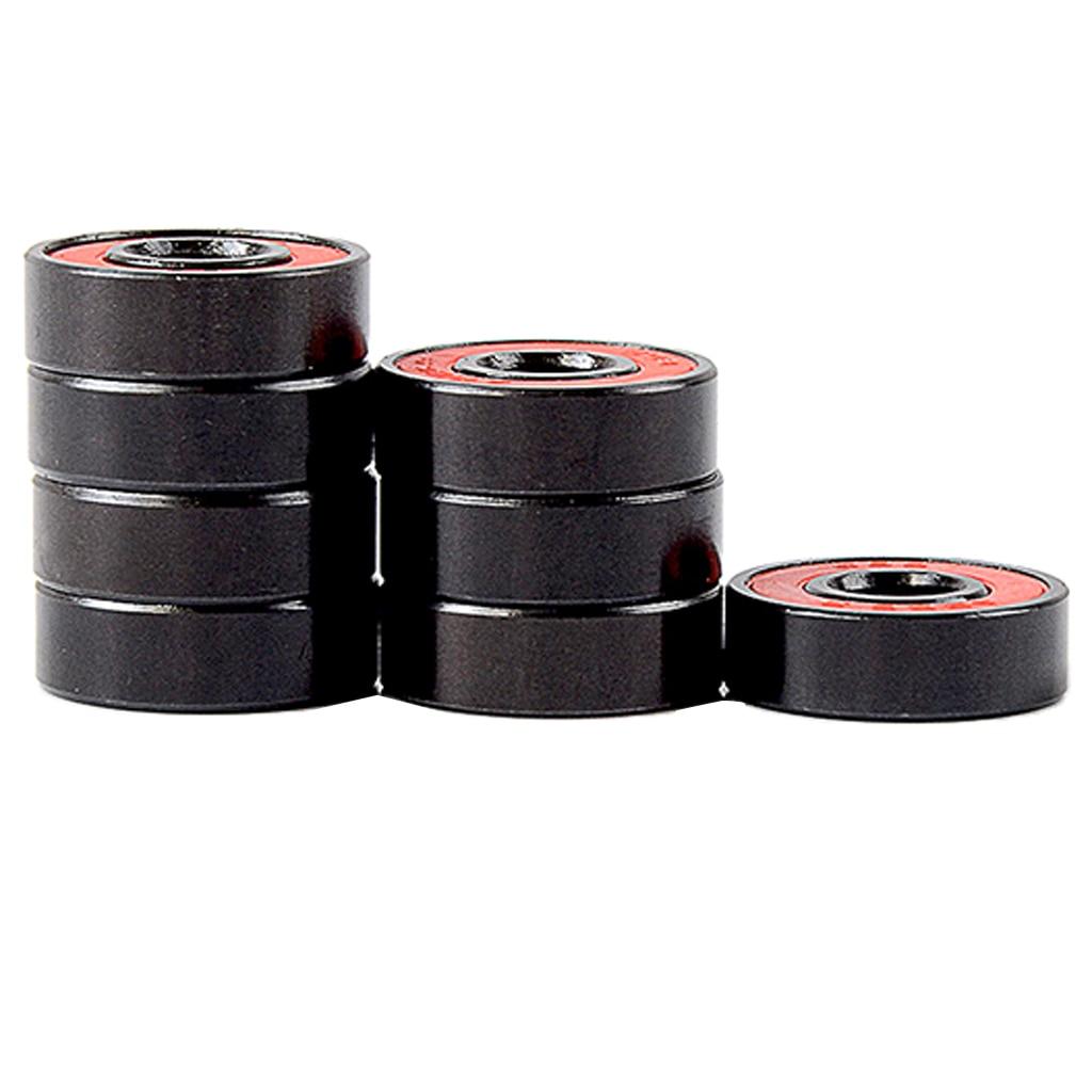 8 Pieces Skateboard Bearing ABEC-9 Skates Longboard Roller Ring Wheel Ball High Speed Skating Ti Wheel Roller Slide Wheel