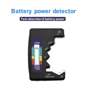 Battery Tester Battery Fuel Detector Dry Battery Digital Voltage Measurer Dry Battery Capacity Detector Portable ABS