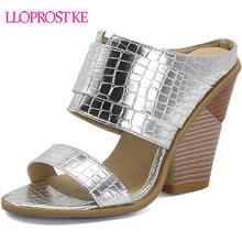 Lloprost ke 2020 women wedge high heels sandals half slippers