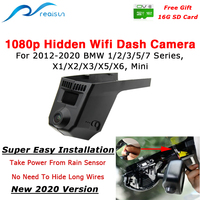 Realsun 1080P Car DVR Wifi Dash Camera 12Million PX Easy Installation For BMW 1/2/3/5/7 Series X1/X2/X3/X5/X6 BMW Mini 2012 2020