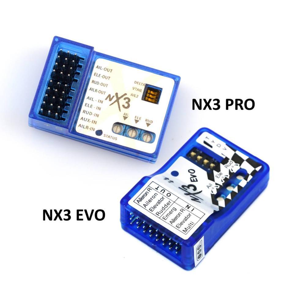 Fixed-wing Flight Gyro Balancer NX3 PRO EVO Flight Controller Board Stabilization Controller For 3D 2D Flight