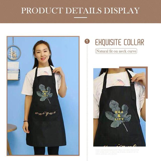 1Pcs Striped Waterproof Polyester Bib Apron Woman Adult Bibs Home Cooking Baking Coffee Shop Cleaning Aprons Kitchen Accessory 4
