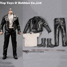 1/6 AS044 Arnold PunK Leather Black Jacket Suits Set Model Locomotive version Toy Fit 12 Male Figure M35 Body Model u star ua 90067 model suits tool set upgrade version ua90067 for gundam tamiya trumpete model making