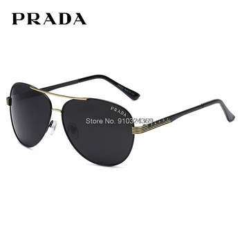 Luxury Brand Prada 4020 Polarized Men's Sunglasses Vintage Pilot Male Sun Glasses Eyeglasses gafas oculos de sol masculino