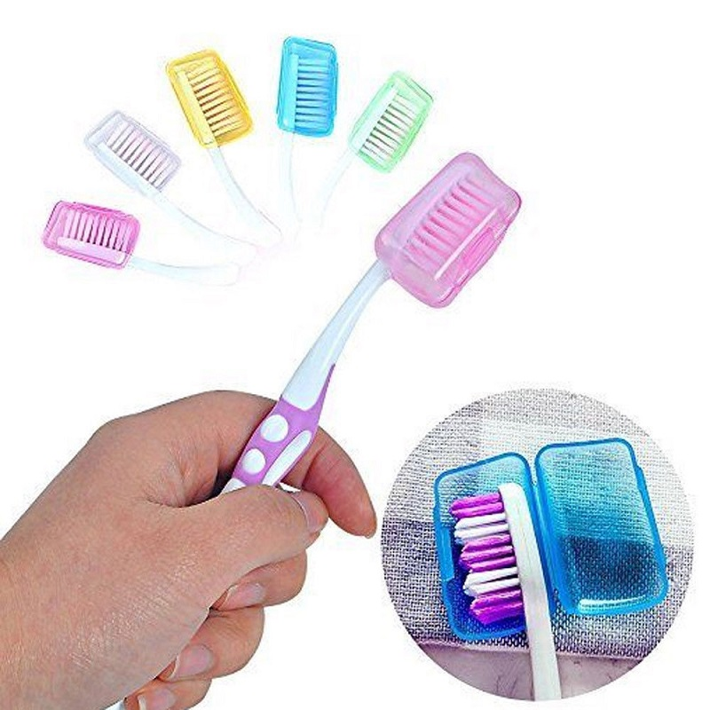 5pcs Toothbrush Headgear Hiking Camping Travel Supplies Tooth Brush Head Protective Cover Case Toothbrush Sets Outdoor Tools