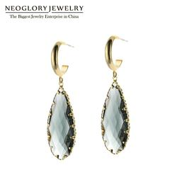 NEOGLORY Jewelry Long Water Drop Shape Crystal Earrings For Woman Fashion in 2020 Gift For Girlfriend Party