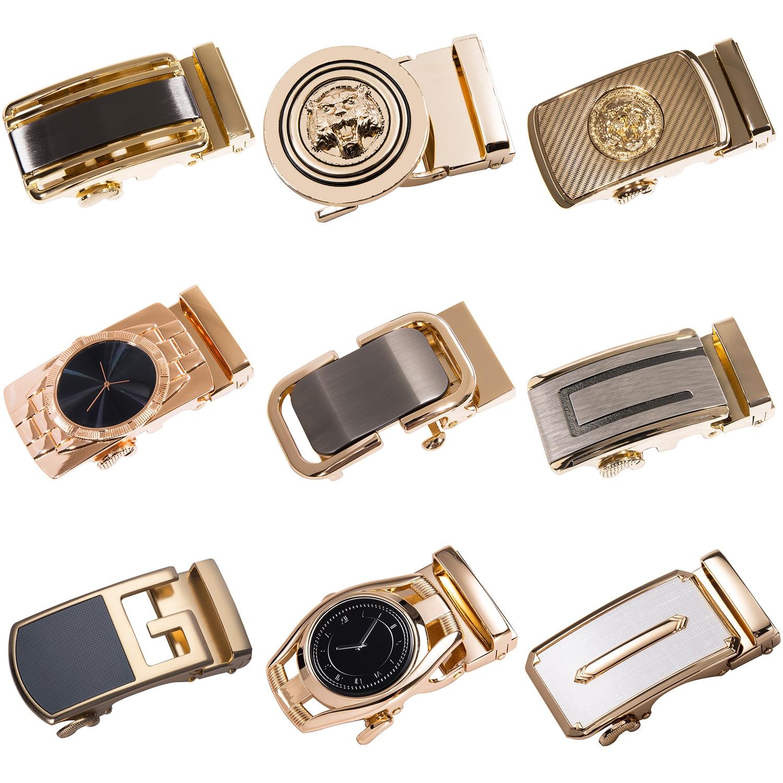 Alloy Automatic Belt Buckle 3.5cm Width Belts Buckle Male Luxury Gold Automatic Buckle Head Metal Belt Buckle For Men DiBanGu