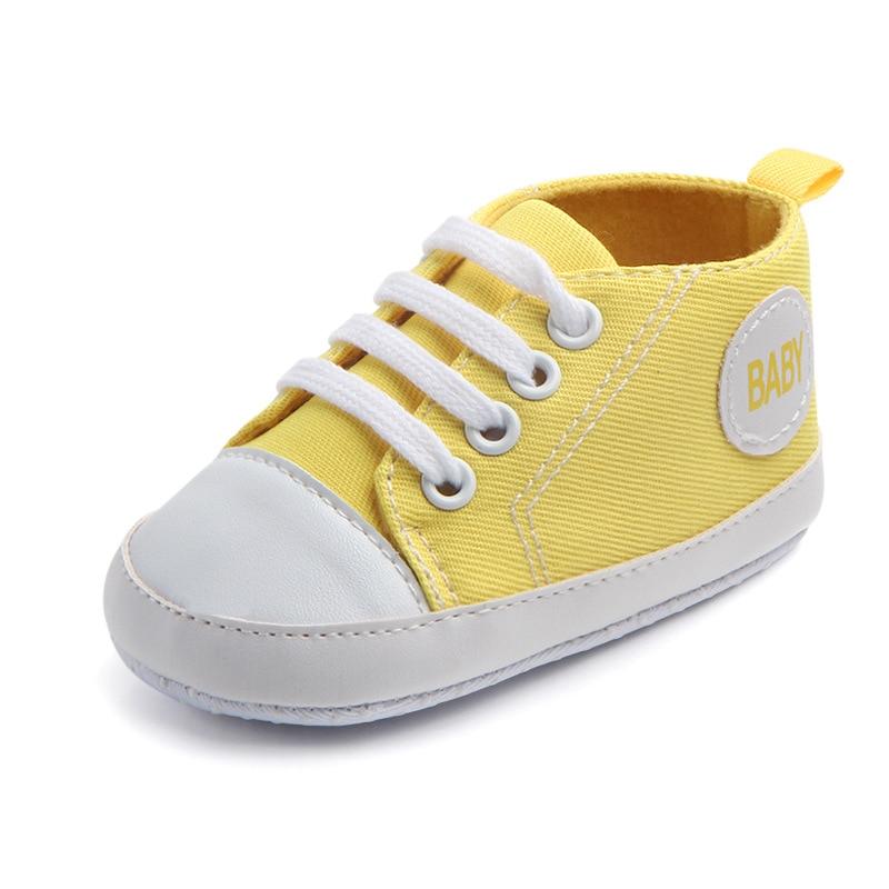 Chaussures bébé Garçon Fille Solide Sneaker Coton Doux Semelle Antidérapante Nouveau-Né Infantile Premiers Marcheurs Bambin décontracté Sport Chaussures de Berceau 17