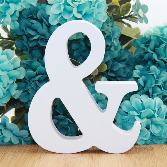 1pc 10cm White Wooden Letters Alphabet DIY Word Letter Party Wedding Home Decor Name Design Art Crafts Standing 3.94 Inches 6