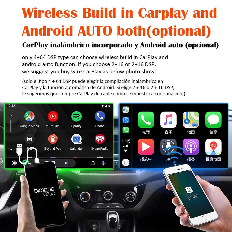 Android 10.0 Radio samochodowe multimedialny odtwarzacz wideo dla Peugeot 2008 208 2012-2018 4G nawigacja stereo GPS DSP IPS dvr nr 2 din dvd