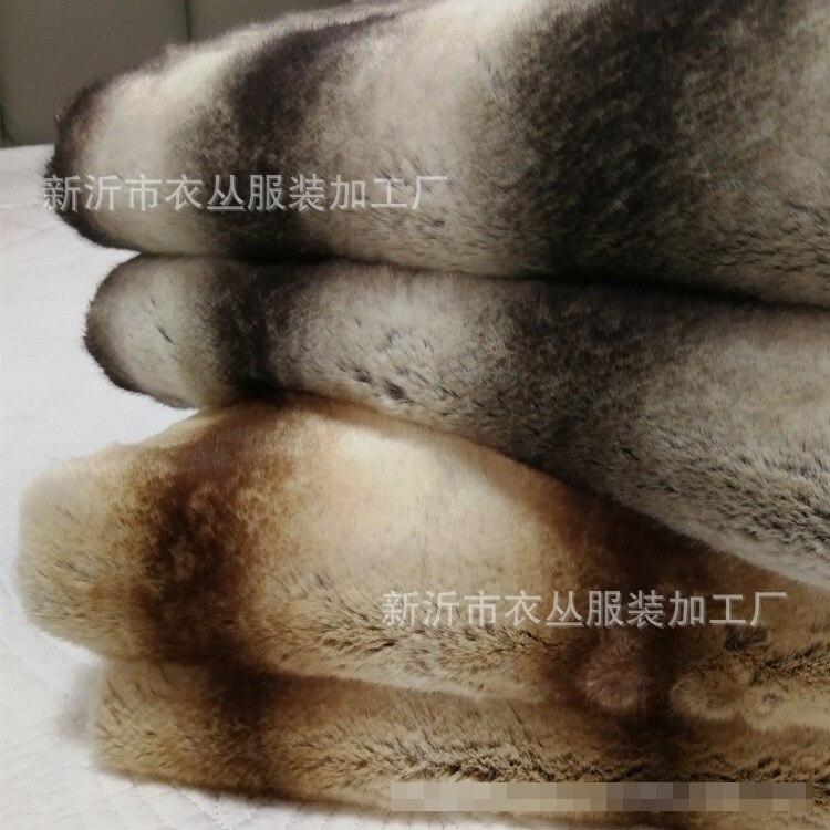 Жаккардовые одеяла в полоску с искусственным кроличьим мехом для дивана - 4