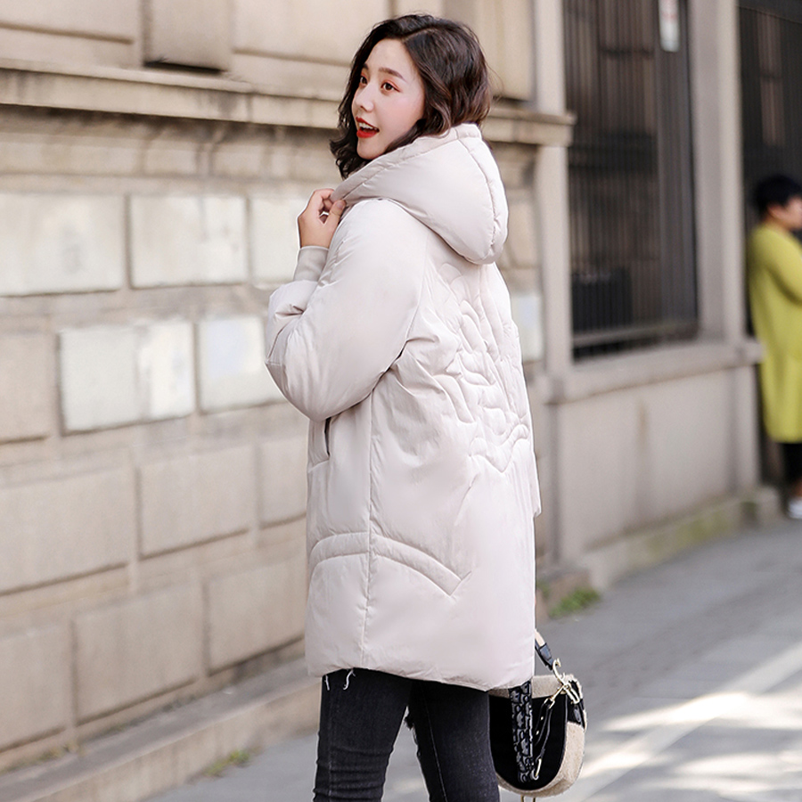 Three color winter coat women thicken warm hooded jacket winter cotton padded parka female outwear 2019 plus size abrigo mujer