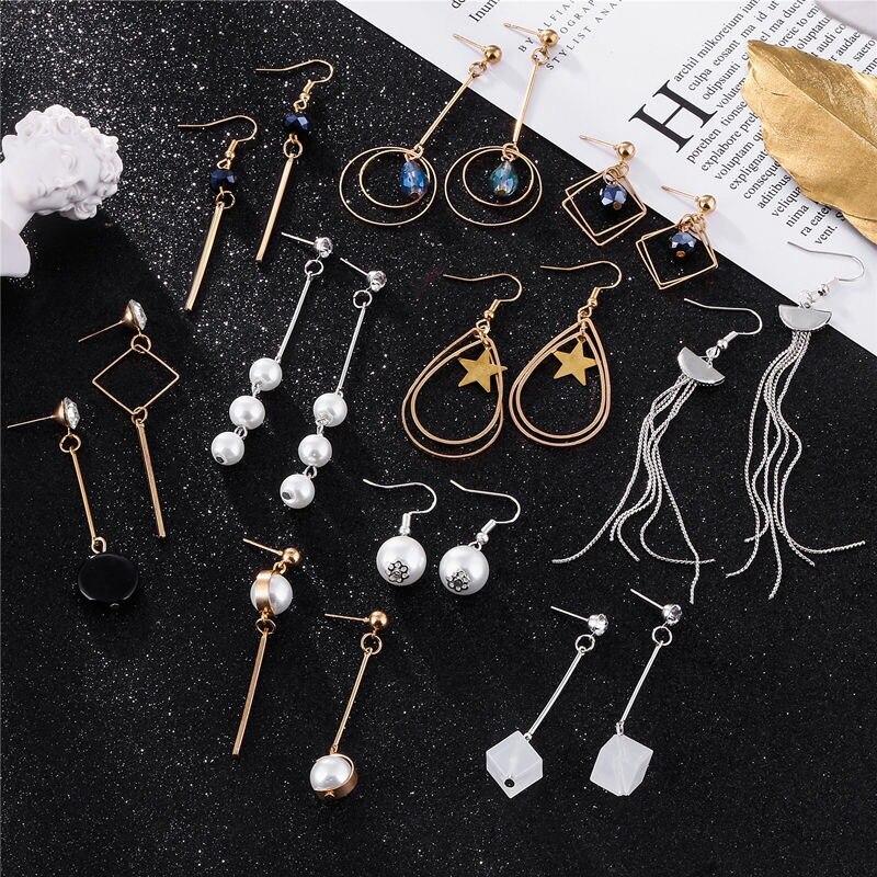 Korea 2019 Pearl Earrings Female Long Personality Earrings Silver Color Plated Ladies Jewelry Earrings Tassel Line