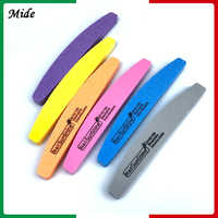 10Pcs 6 Colors Half Moon Style Nail Files 100/180 Sunshine Nail Buffer Sponge Sand Nail File Nail Art Pedicure Tools