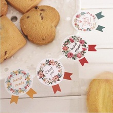 120pcs/lot Wreath Medal design color seal label for baking DIY Package Decorated stickers adhesive