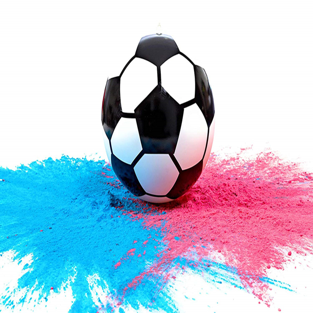 Gender Reveal Soccer Ball Pink And Blue Kit