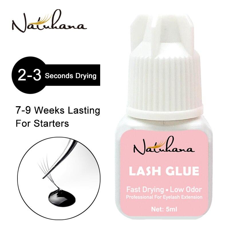 NATUHAHA 5ml 2-3Seconds Fast Dry Extremely Strong Black Eyelash Extension Glue Professional No Simulation Eye Lash Adhesive Glue