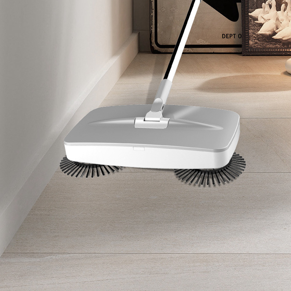 2 2 In 1 Sweeping Machine Push Type Hand Push Magic Broom Dustpan Handle Household Cleaning Package Hand Push Sweeper Mop