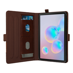 Image 2 - Multifunction Double Stand Leather Case for Samsung Galaxy Tab S6 10.5 T860 Business Flip Wallet Smart Cover for Samsung T865