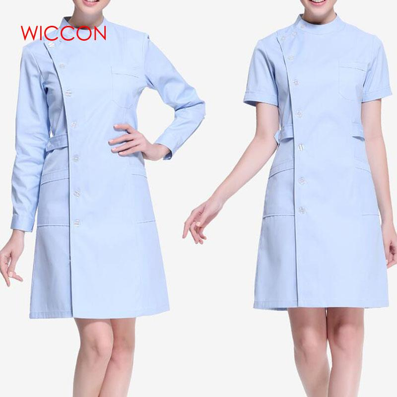 WICCON New Fashion Work Wear Uniforms Clothes Beautician Overalls Beauty Salon Work Clothes Nurse Uniform Pharmacy Work Clothes