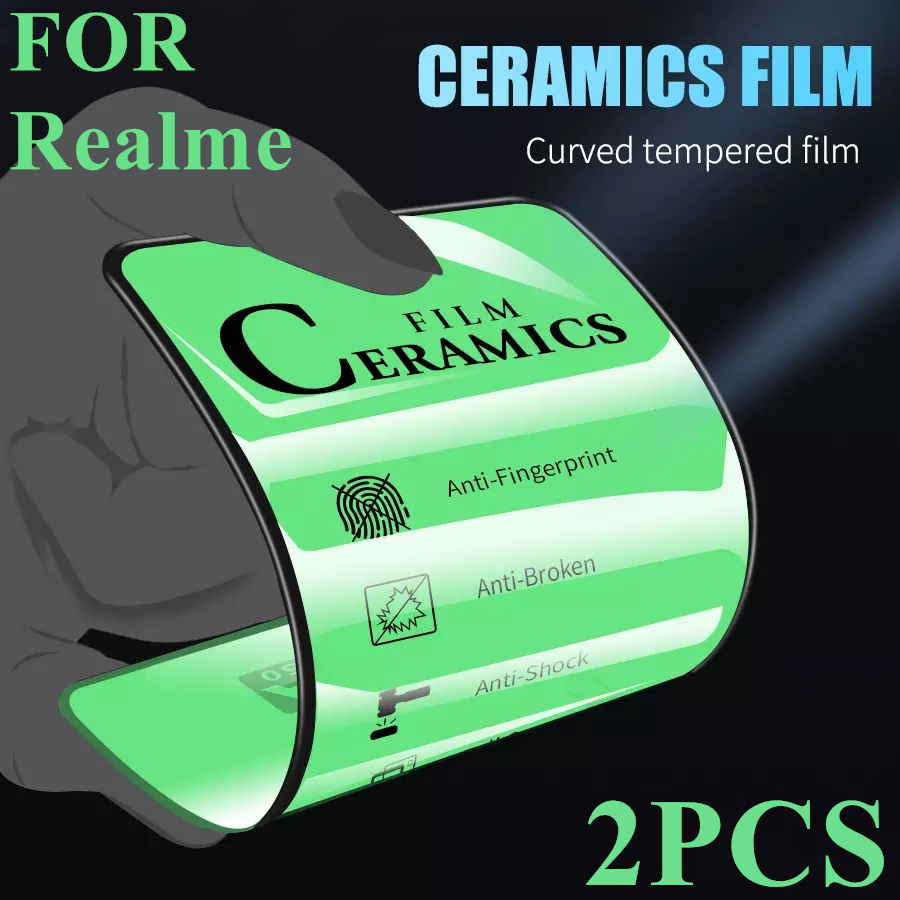 2 pezzi di vetro temperato ceramico per Realme 7 6 X50 Pro XT 6i 6S X proteggi schermo per Realme X2 5 Pro X3 Superzoom C11 C3 C12 C15