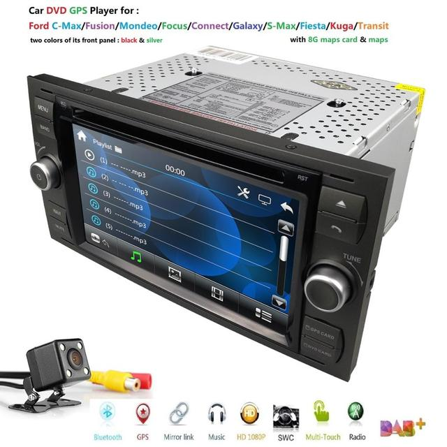 Car DVD GPS For Ford Mondeo S max Focus C MAX Galaxy Fiesta transit Fusion Connect kuga DVD PLAYER Car multimedia player Camera