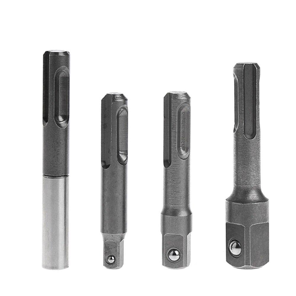 Drop Ship 4 Pcs 1/4''3/8''1/2'' SDS Socket Driver Drills+Quick Change Hex Shank Adaptor