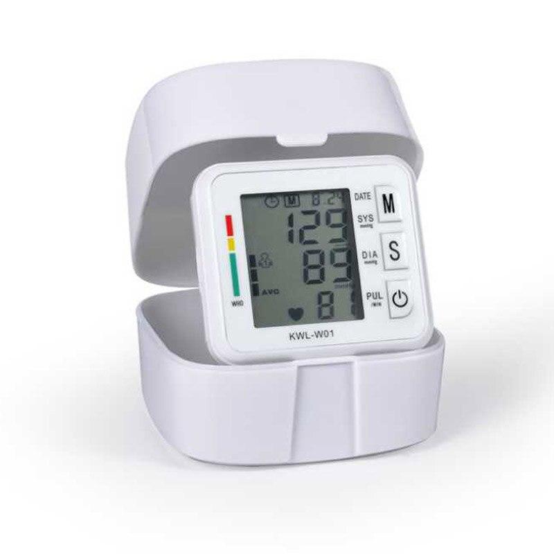 Na rękę miernik ciśnienia krwi monitora urządzenia maszyny automatyczny cyfrowy wyświetlacz LCD bicie serca którego Pulse miernik ciśnienia krwi tonometr