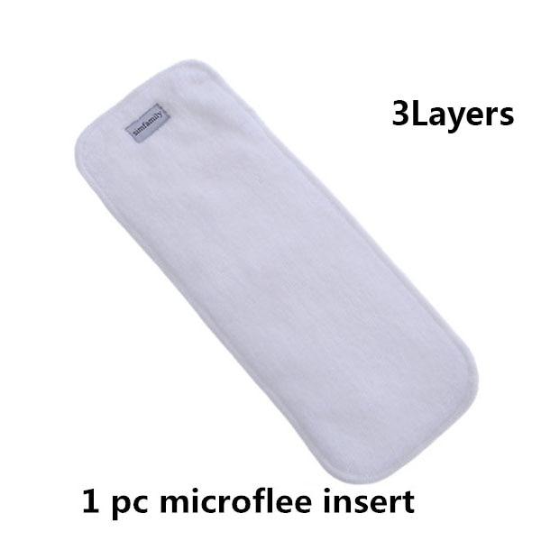 [Simfamily] 1 шт. Многоразовые водонепроницаемые детские подгузники с цифровым принтом Один размер Карманные детские подгузники цена подходит для 3-15 кг - Цвет: 1pc diaper insert