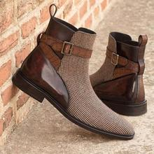 Men's Shoes Ankle-Boot Boot-Size Chelsea Winter Dress High-Quality New for Male Vinage
