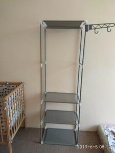 Actionclub Hanger Rack Standing Storage-Shelf Iron-Coat Bedroom-Furniture Floor Metal