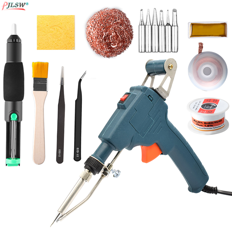 220V 60W Hand-held Inside And Outside Heating Electric Soldering Iron Automatically Send Tin Gun Soldering Welding Repair Tools