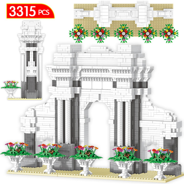 Diamond Mini Bricks World Famous Architecture the Oriental Pearl Tower Twin Bridges 3D Model Building Blocks Toys for Children
