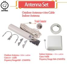 Zqtmax 12dBi Antenne Sets Voor 850 900 1800 2100 2600 Mhz 2G 3G 4G Mobiele Signaal Booster gsm Repeater Lte Umts Internet Versterker