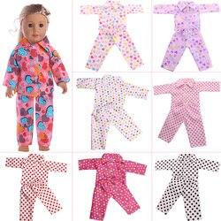 Акция! Зимняя Пижама = рубашка + брюки для американской 18-дюймовой куклы и 43 см куклы для новорожденных и нашего поколения