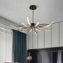 Modern Led Chandeliers for Living Room Dining Room Dimmable Remote Controller Chandelier Lighting Fixture Chandeliers Ceiling modern led lustre chandelier hanglamp remote control chandeliers hanging lighting dining room restaurant office light fixture
