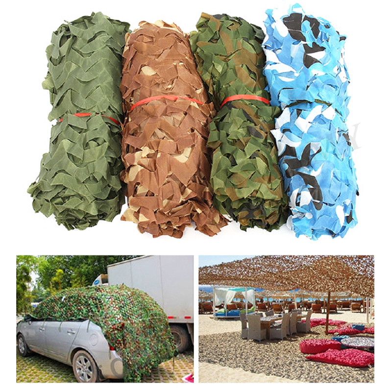 Military Camouflage Net Camo Netting Army Net Shade Mesh Hunting <font><b>Car</b></font> Roof Camping <font><b>Outdoor</b></font> Sun Shelter Tarp <font><b>Tent</b></font> Hide Netting New image