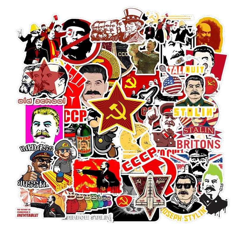50pcs Soviet Union Stalin Computer Stickers Waterproof Luggage Laptop Phone Skateboard Mixed Graffiti Sticker For Notebook Decal