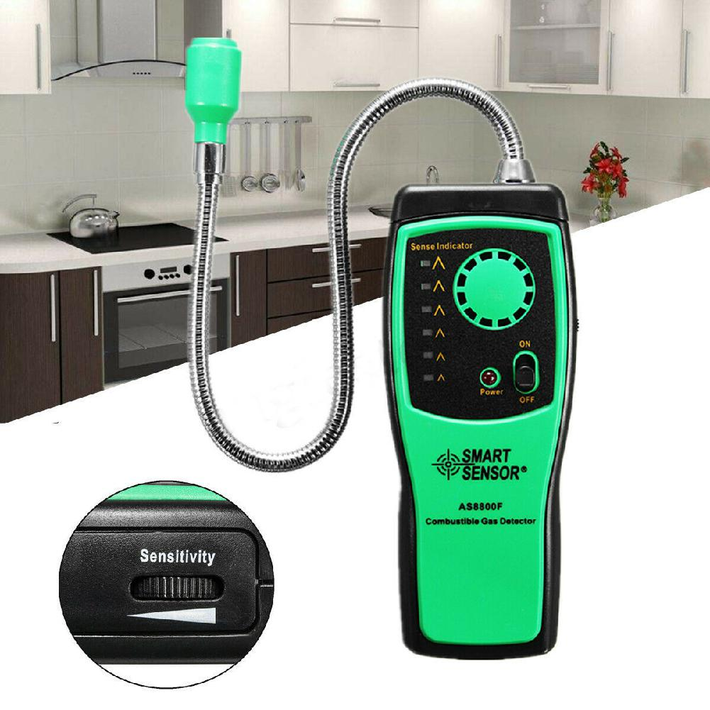 SOLLED AS8800F Portable Combustible Gas Detector Methane Natural Gas Leak Analyzer Tester(Without Battery)