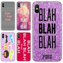 Silicone Cover Bag Pastel Blach Blah Blah For Xiaomi Mi A1 A2 A3 5X 6X 8 9 9t Lite SE Pro Mi Max Mix 1 2 3 2S(China)