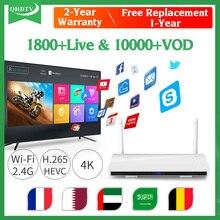Android 8.1 IPTV France box IPTV Subscription R6 RK3229 H.265 IPTV French Arabic Belgium Spain Italia 1 Year QHDTV IP TV цена 2017